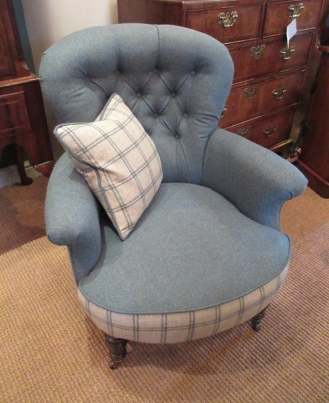 mid victorian upholstered lamb's of manchester armchair