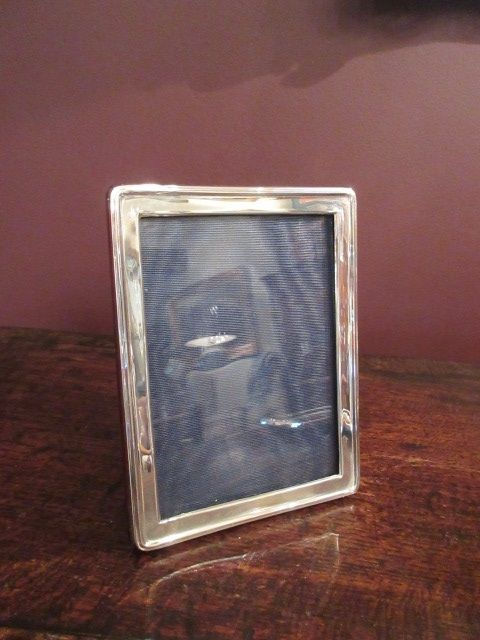 high quality george v period plain silver photo frame