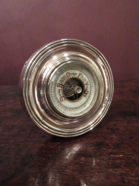 edwardian period chester silver desk top barometer