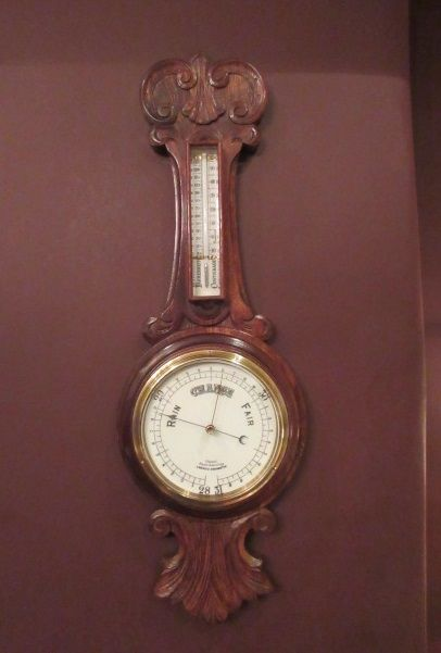 victorian polished oak 'rapid indicating' banjo barometer