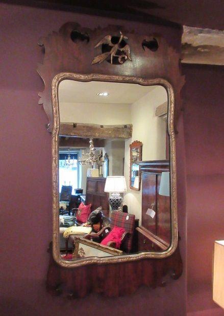 19th century george iii style wall mirror