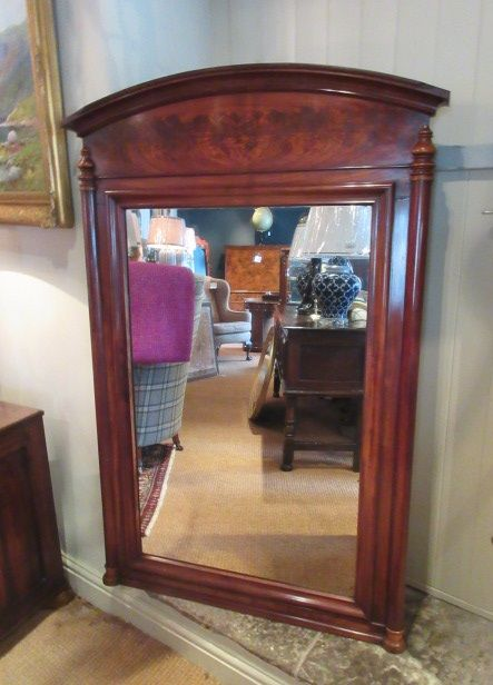 william iv period antique flame mahogany hall mirror