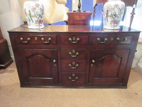 superb georgian antique oak cupboard dresser