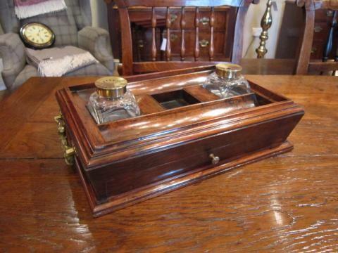 superb regency period rosewood desk tidy