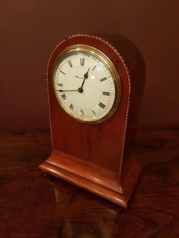 unusual flared base edwardian mantel clock