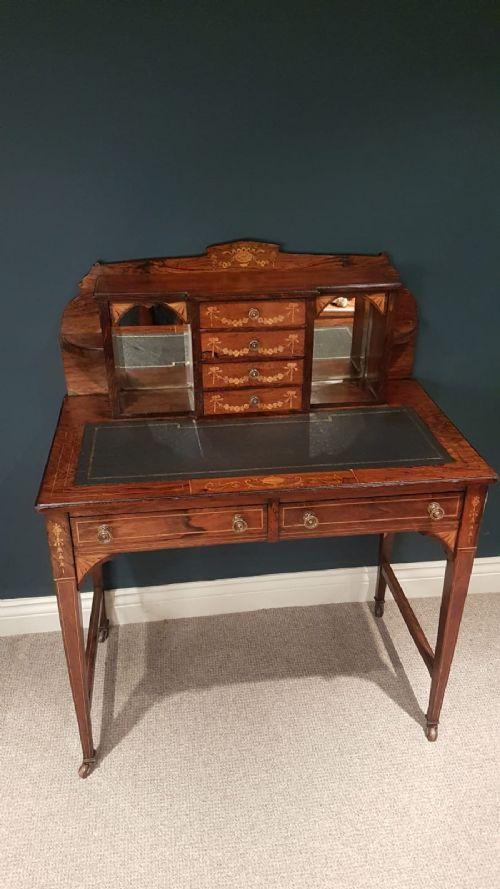 inlaid edwardian rosewood writing desk
