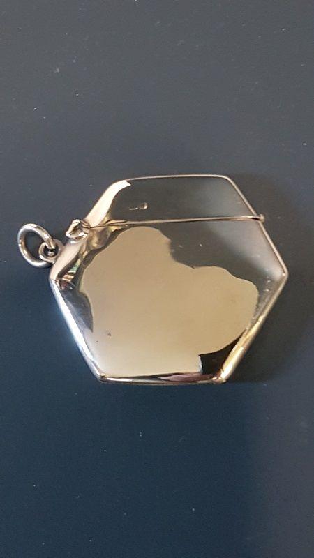 sampson morden silver hexagonal vesta case