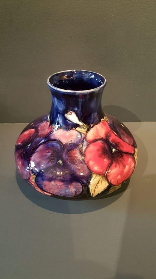 large moorcroft pansy vase
