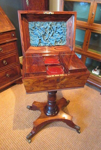 fine regency period rosewood teapoy