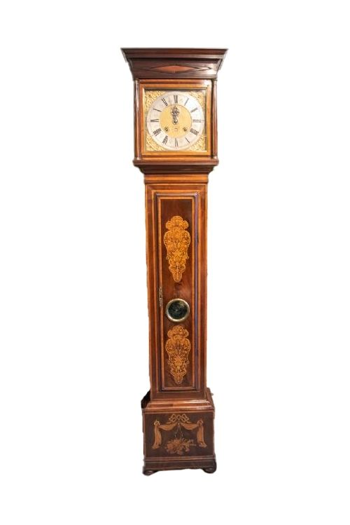 month going dutch striking square brass dial clock