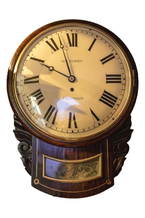 8 day fusee mahogany timepiece wall clock william dawes of london
