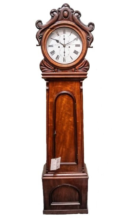 8 day striking the hours hunters of glasgow long case clock
