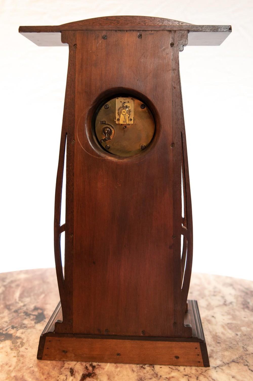 Very Large Wooden Art Deco Art Nouveau Timepiece Mantel Clock 612344 Sellingantiques Co Uk