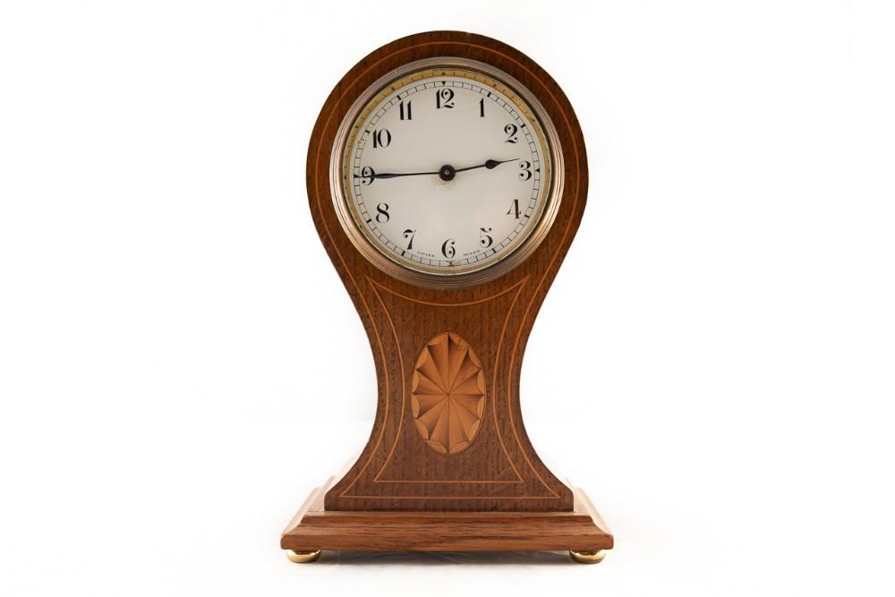 8 day swiss mantel clock in mahogany case