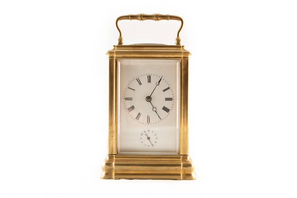 8 day brass cased carriage clock