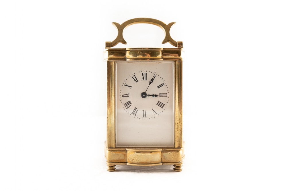 8 day french made brass carriage clock