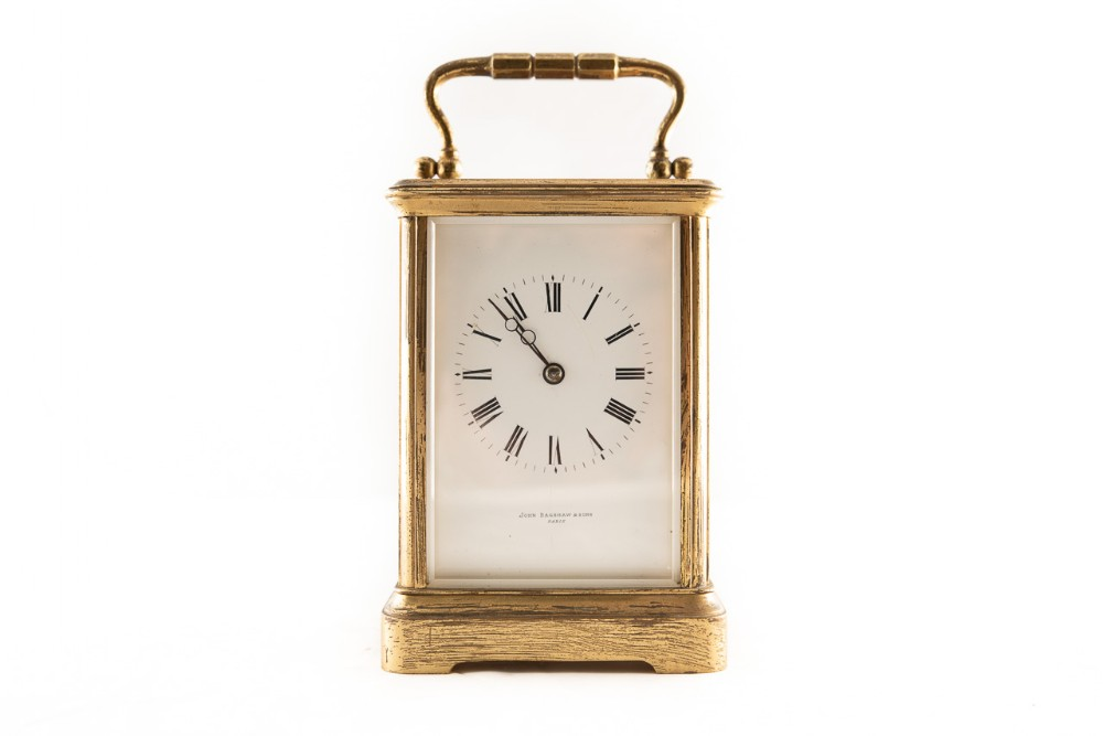 8 day striking the hours brass cased carriage clock