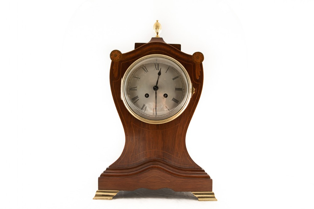 late 19th century shield shaped mantel clock