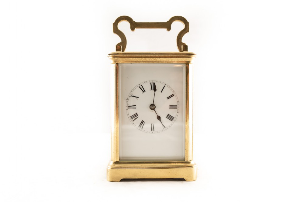 8 day timepiece french brass carriage clock