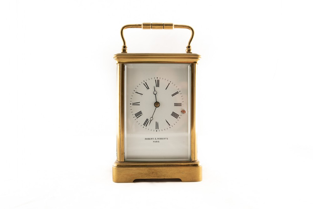 8 day french brass cased carriage clock
