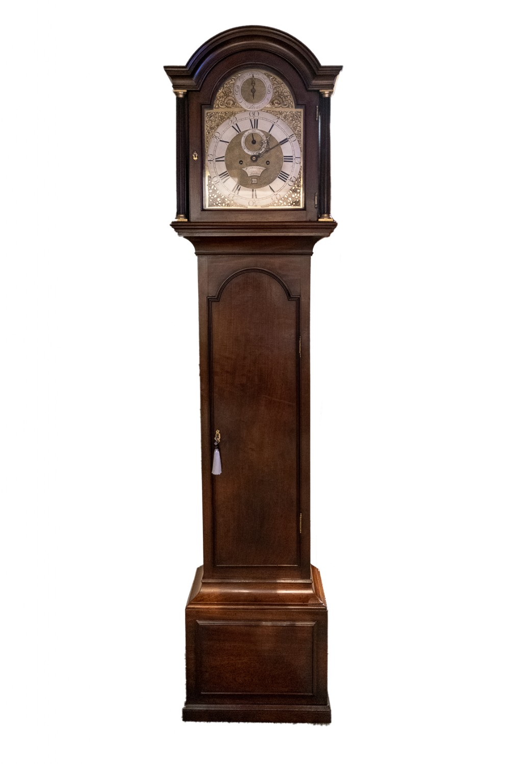 8 day arched brass dial longcase clock william whitebread london