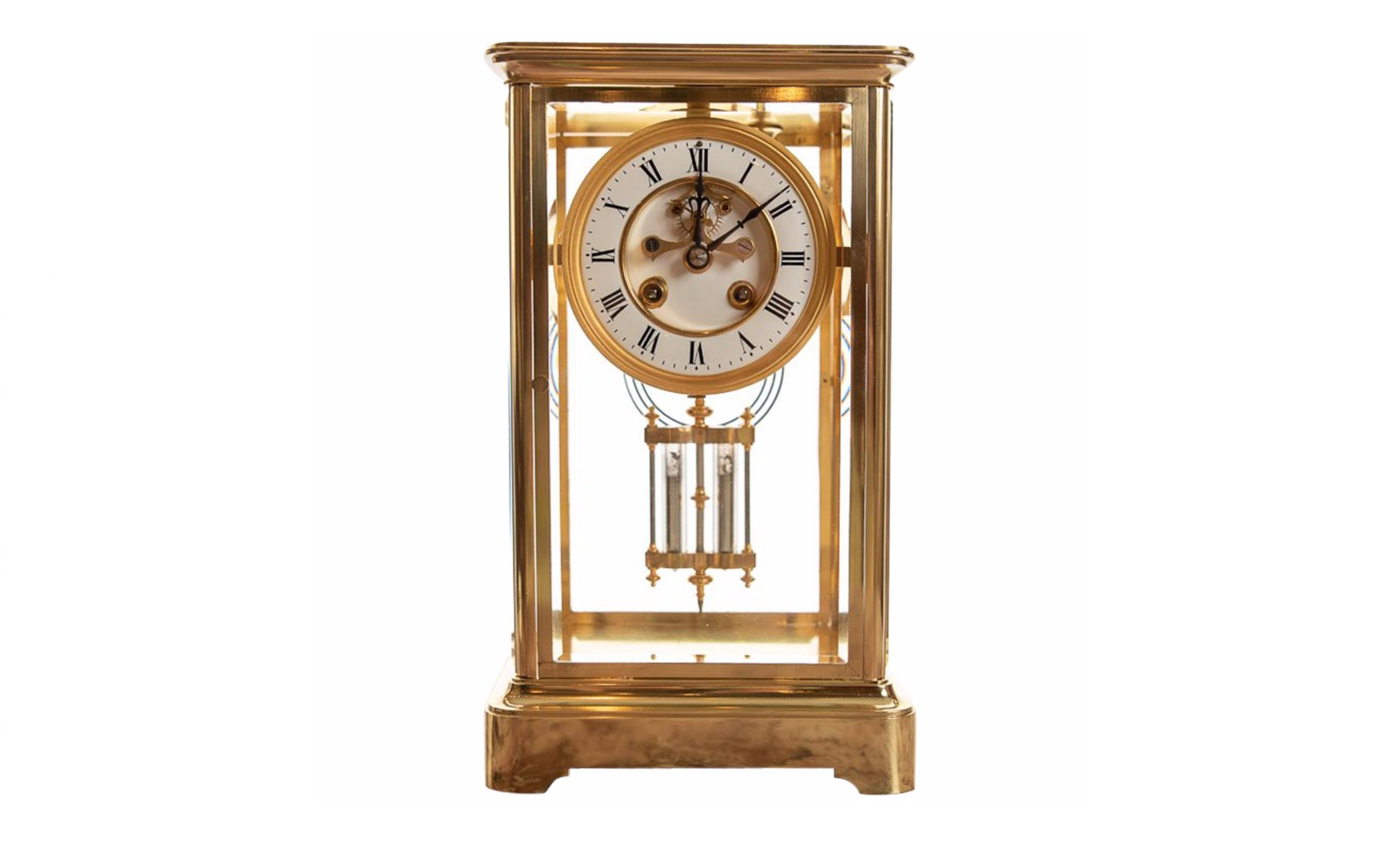 french 8 day striking four glass clock by japy freres paris late 19th century