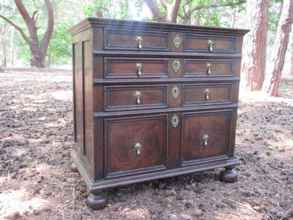 late 17th century oak chest of drawers circa 1680