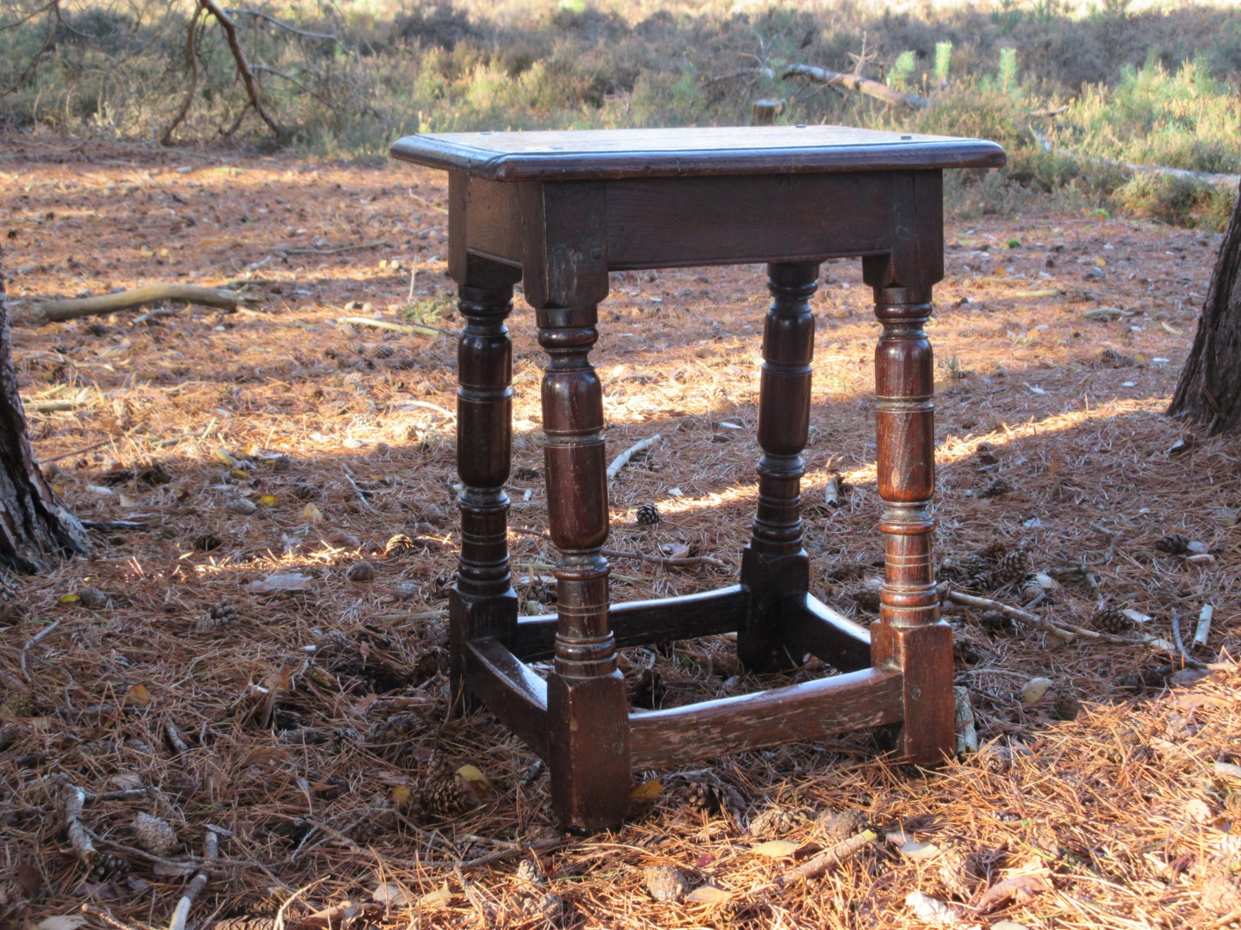 a mid 17th century oak joint stool english circa 1650
