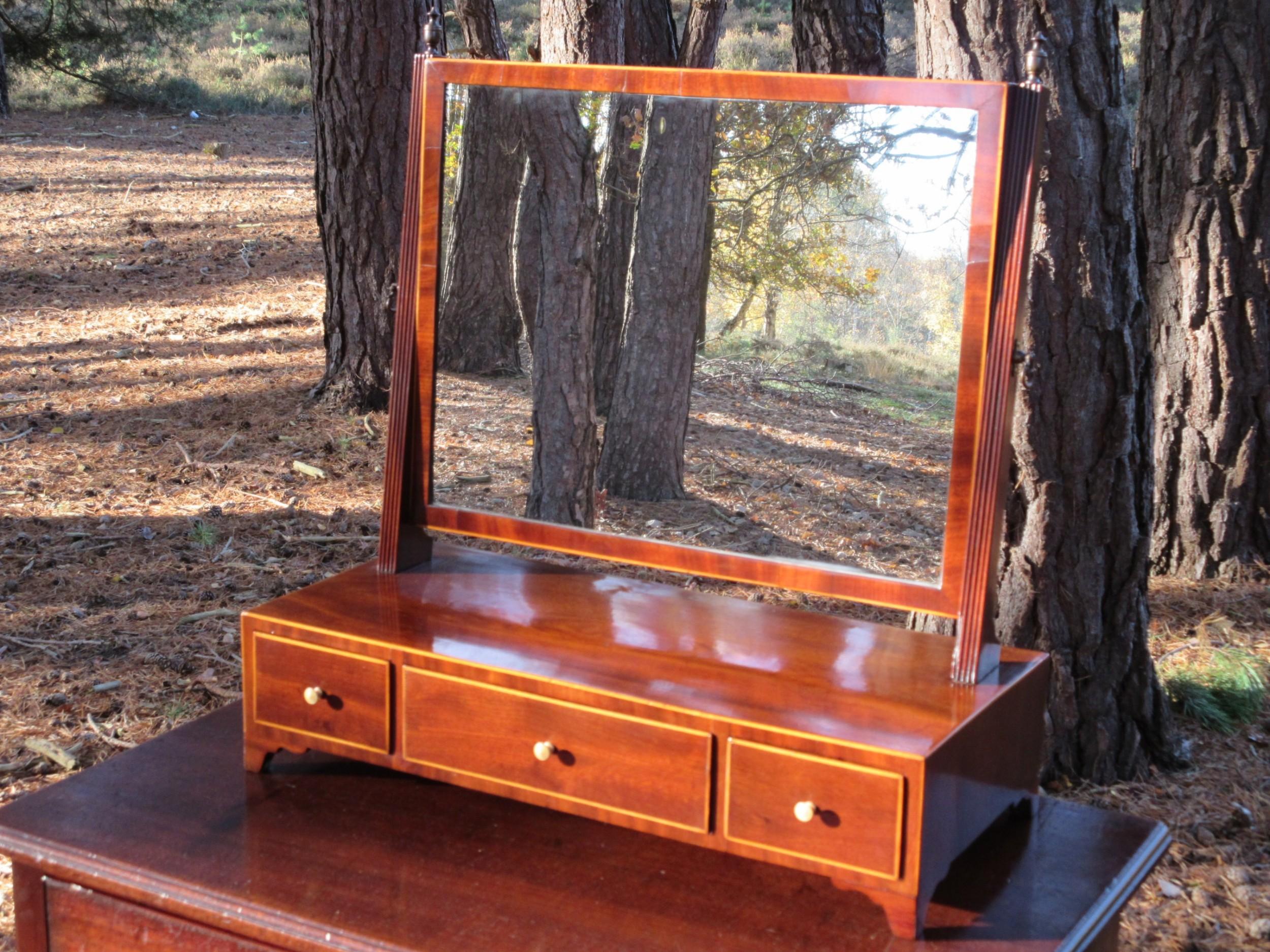 regency mahogany toilet or dressing table mirror circa 1815