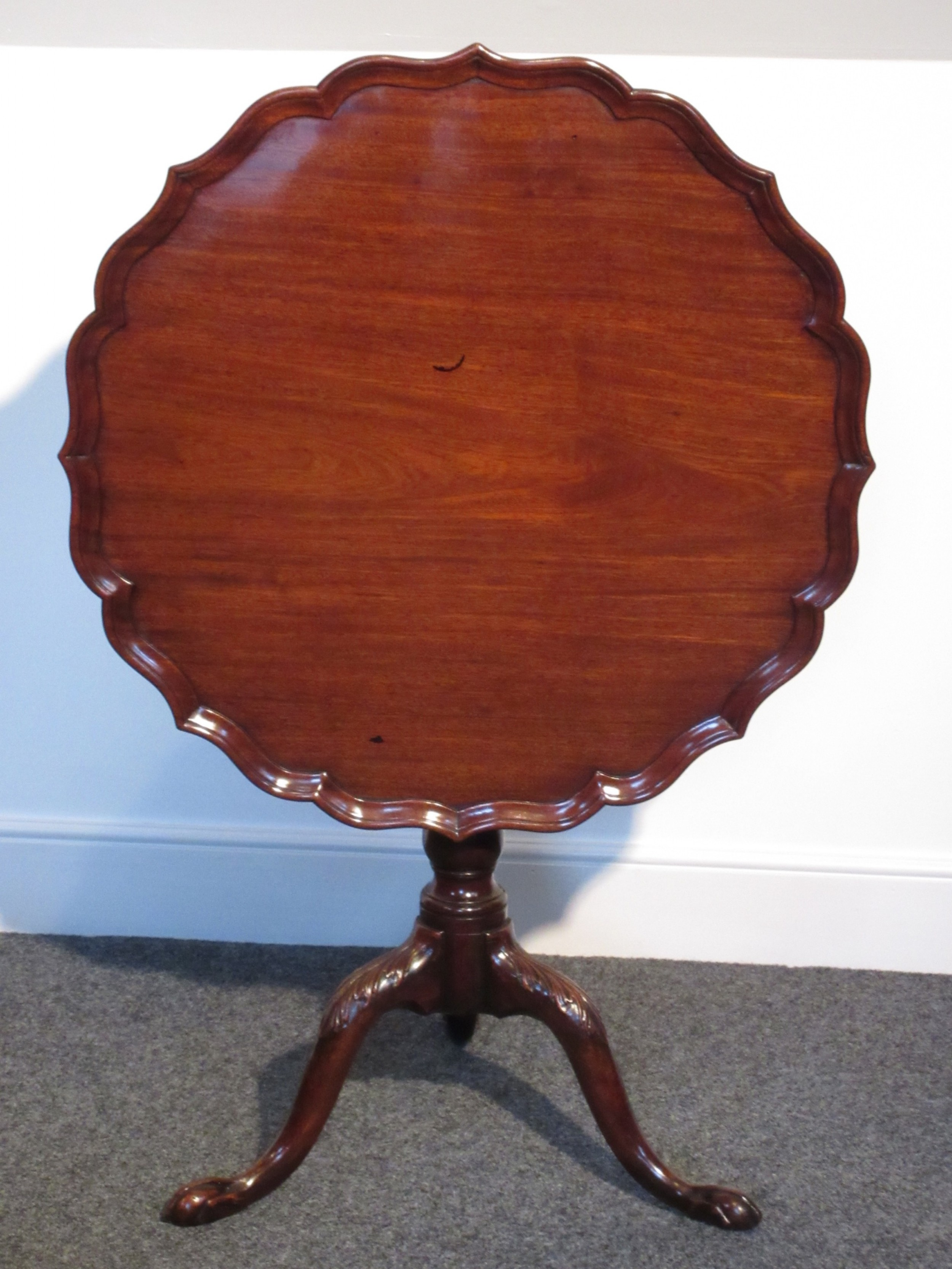 george iii mahogany tripod supper or lamp table circa 1775