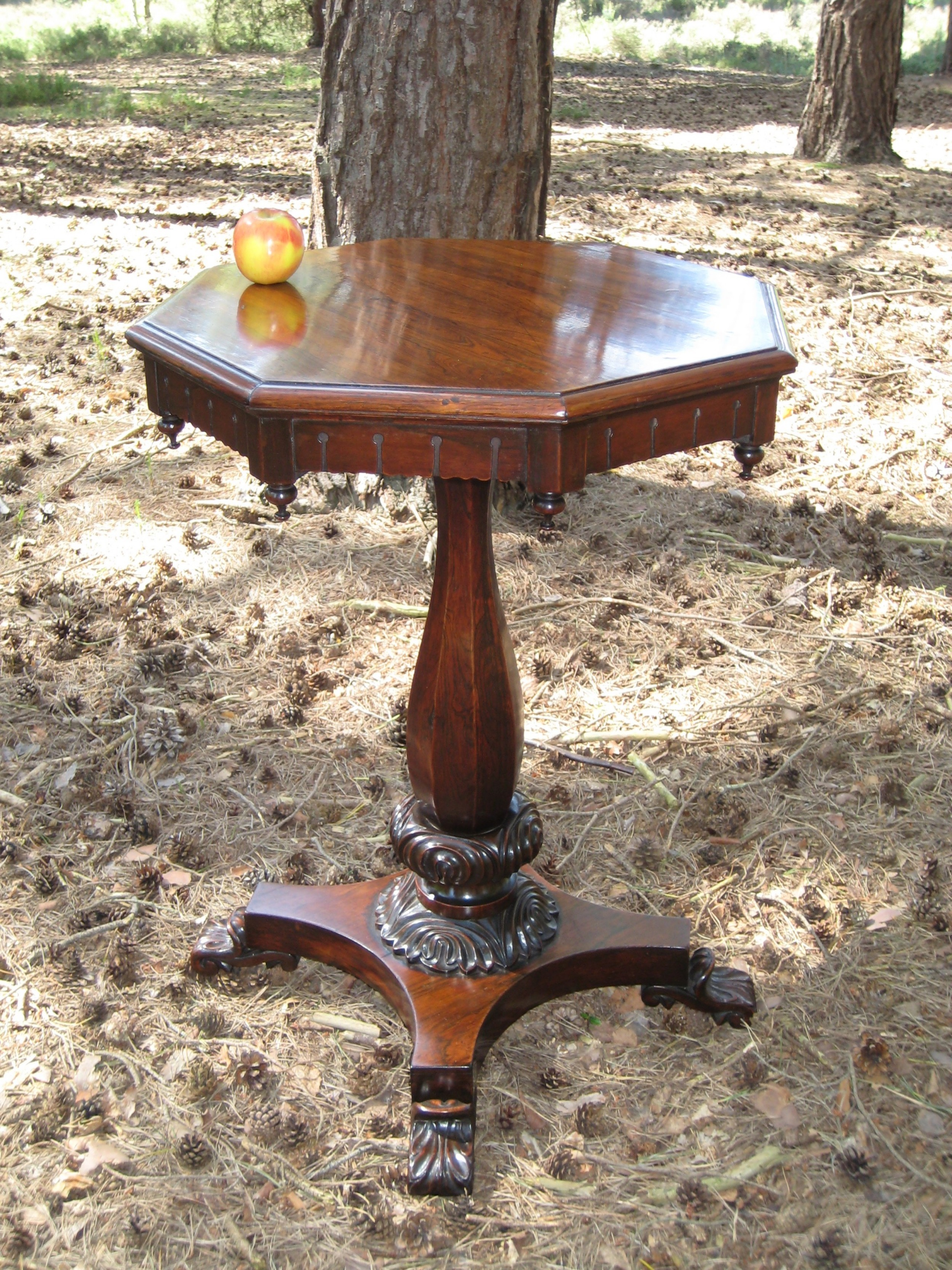 regency rosewood octagonal occasional table circa 1825