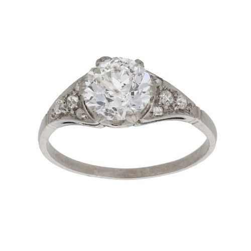 art nouveau 175ct diamond engagement ring