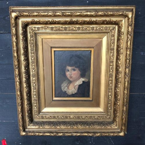 charming french oil painting