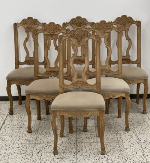 set 6 french oak farmhouse dining chairs