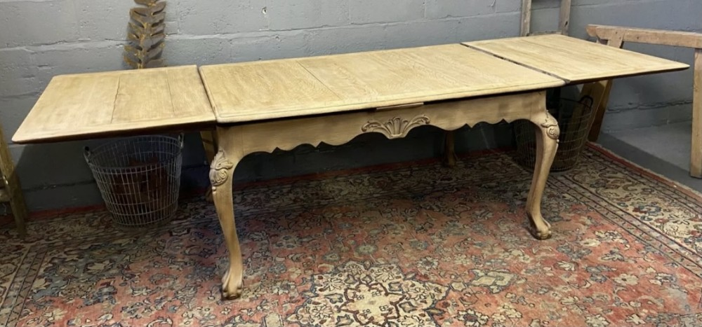 french bleached oak extending dining table