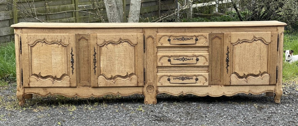 large french bleached oak farmhouse sideboard