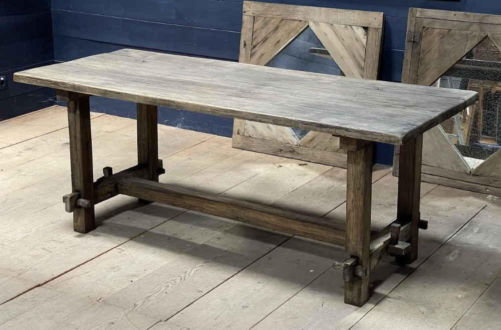 rustic french washed oak farmhouse table