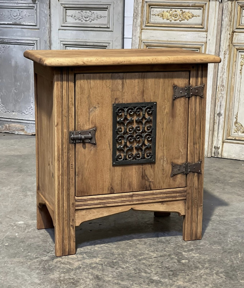 small french bleached oak cupboard