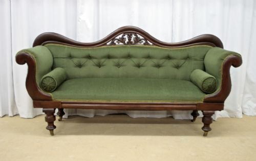 victorian mahogany sofa 1880 - photo angle #2