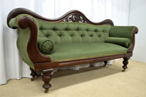victorian mahogany sofa 1880 - photo angle #4