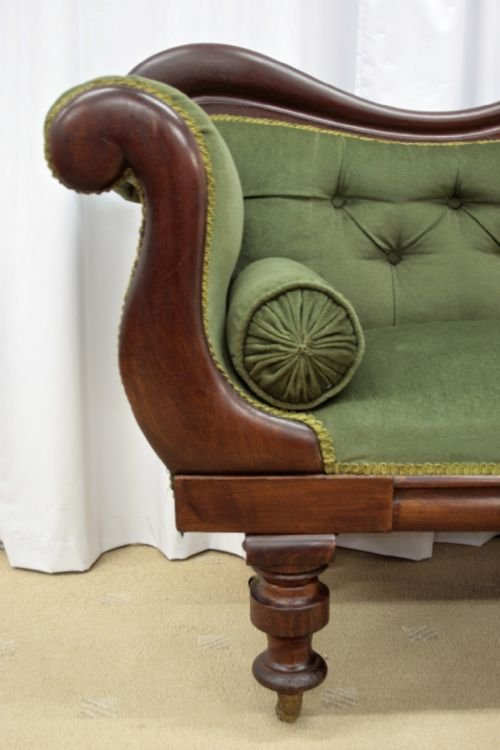 victorian mahogany sofa 1880 - photo angle #5