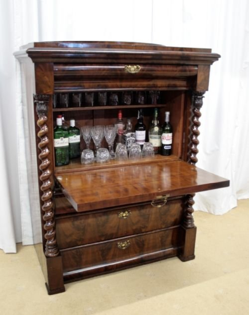 19th century mahogany drinks cabinet - 19th Century Mahogany Drinks Cabinet 112563 Sellingantiques.co.uk