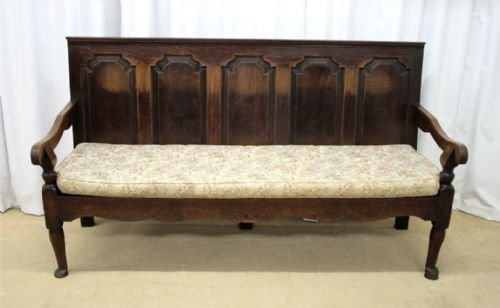 oak settle circa 1800 - photo angle #2