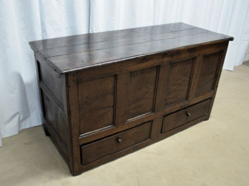 18th century oak kist