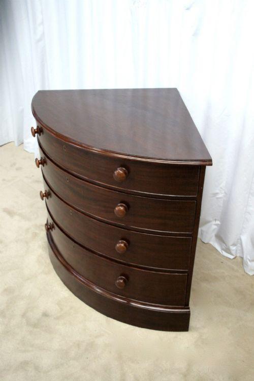 Corner Chest Of Drawers ~ George iii mahogany corner chest of drawers