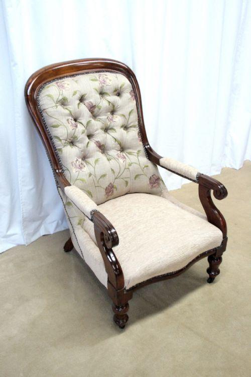 victorian walnut armchair