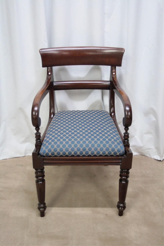 Mahogany Scroll Arm Carver Chair 257351
