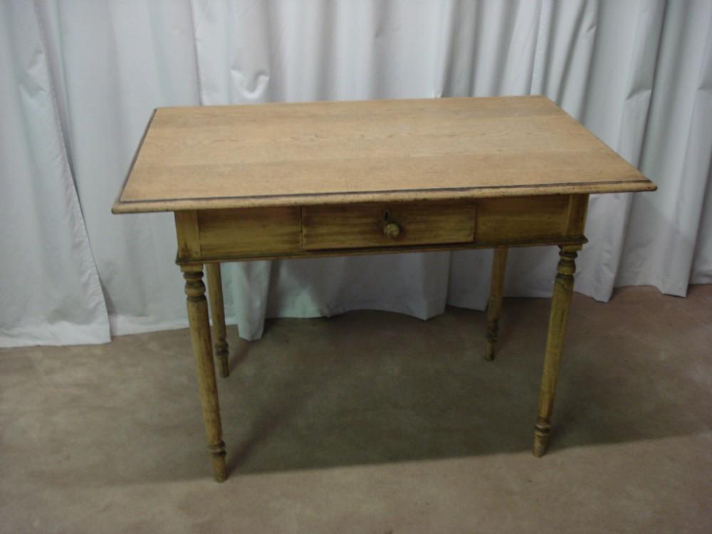an edwardian oak rustic table