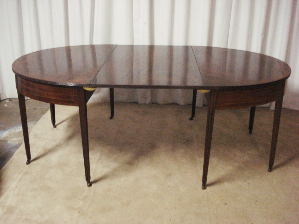 georgian mahogany d end dining table
