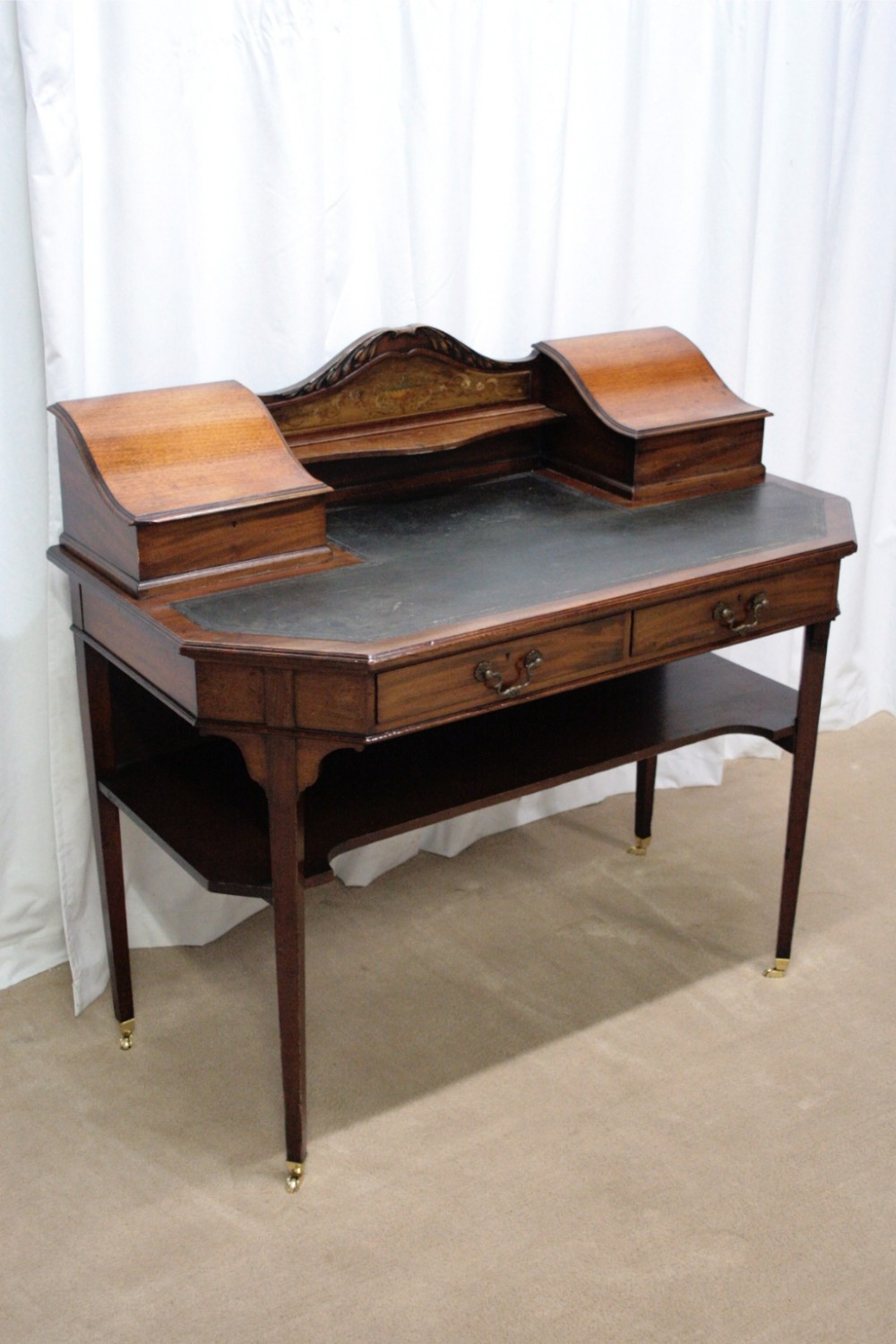 Ladies Writing Desk ~ Edwardian mahogany ladies writing desk